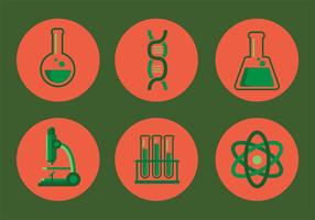 Laboratorievektorns ikonuppsättning