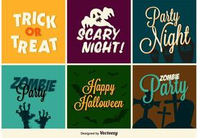 Halloween party klistermärken vektor