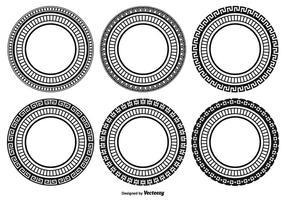 Dekorativ rundformsuppsättning vektor