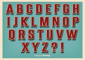 Vintage Retro Stil Alfabet vektor