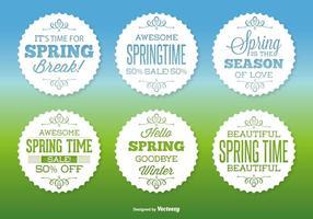 Sortiertes Spring Label Set