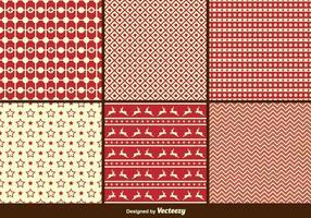 Weihnachten Retro Muster