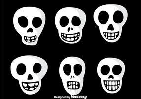 Leende skalle vektor ikoner