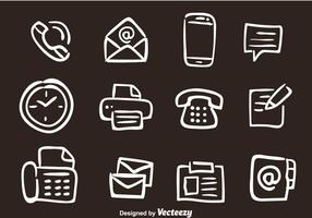 Hand gezeichnet Office Vector Icons