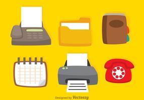 Vector Büro Icons