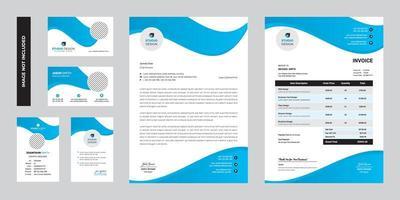 modern företag företags brevpapper mall design