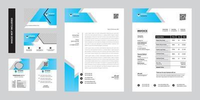 modernes Geschäftsunternehmens-Briefpapierschablonendesign vektor