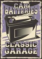 auto service bilbatteri affisch vektor