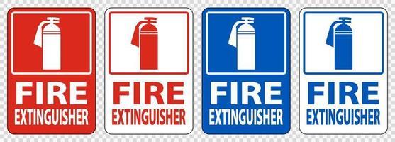 brandsläckare tecken symboluppsättning