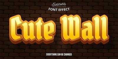 söt vägg text effekt