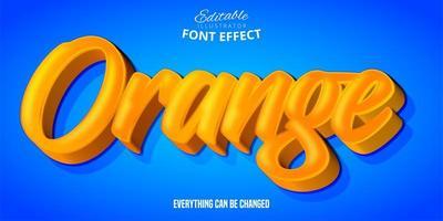 orange 3d Texteffekt vektor