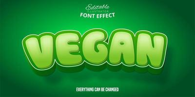 veganer grüner Schrifteffekt vektor