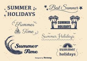 Sommer Urlaub Etiketten vektor