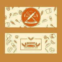 Satz Bäckerei Banner vektor