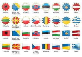 Vektor Europa Flaggor
