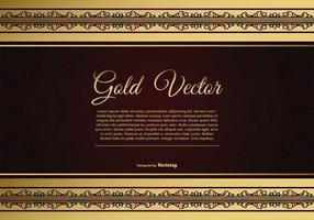 Elegante Gold und rote Hintergrund Illustration vektor