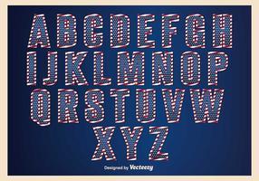 Patriotiska Alfabet Set vektor