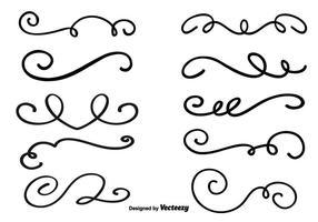 Dekorativa Vector Swirls