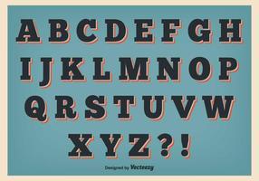 Retro Stil Alfabet Set