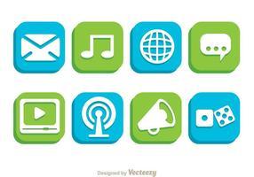 Socialt telefonknapp vektor