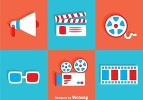 Flache Film Icons