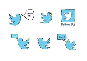 Free Twitter Vogel Vektor Serie
