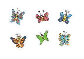 Free Cartoon Schmetterling Vektor Serie