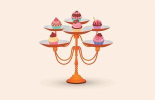 Cupcake Ställvektor vektor