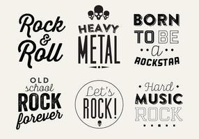 Typografisk vektor bakgrund av rockmusik
