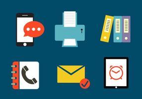 Set med olika Office-ikoner vektor