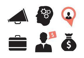 Set med olika affärs ikoner