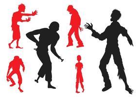 Vektor silhuett av zombies