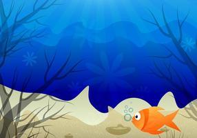 Undervatten Scene Färgglada Bakgrund vektor