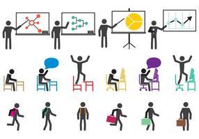 Schule und Arbeit Icons