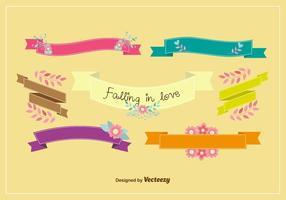 Romantische Frühlingsbänder vektor