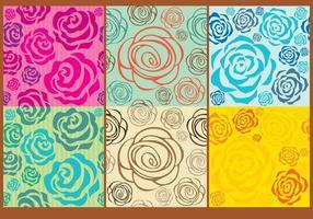 Roses bakgrundsvektorer vektor