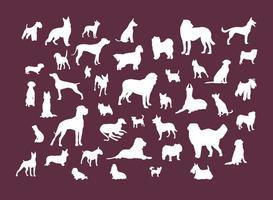 Hund silhuetter vektor