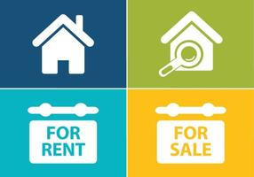 Immobilien Icon Set