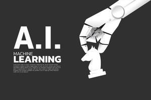 robothand som håller riddaren vektor