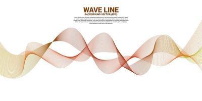 orange Schallwelle gekrümmte Linien auf Weiß vektor