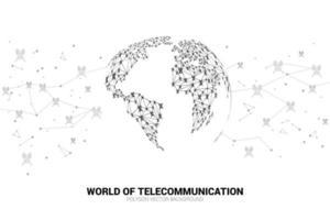 Antennensymbole verbinden sich durch Linien und in Globusform vektor
