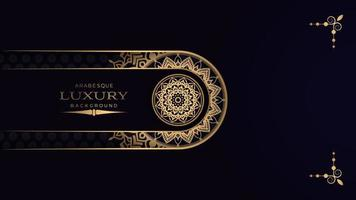 schwarzer Luxus-Mandala-Hintergrund vektor
