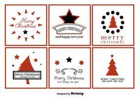 Frohe Weihnachten Gruß-Etiketten vektor