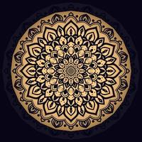Gold komplizierter Mandala Hintergrund