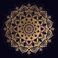 luxuriöses goldenes Mandala-Design