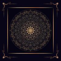 Luxus komplizierter goldener Mandala Rahmen vektor