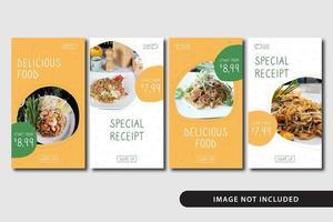 Food Social Media Story Vorlage