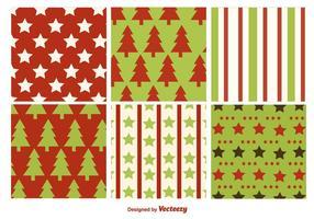Weihnachten flache Texturen