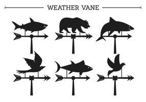 Wetterfahne Vektoren