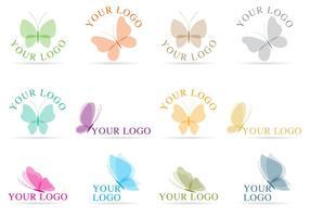 Fjäril logotyp vektorer